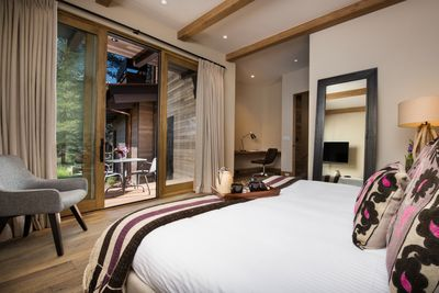 King bed and private bath