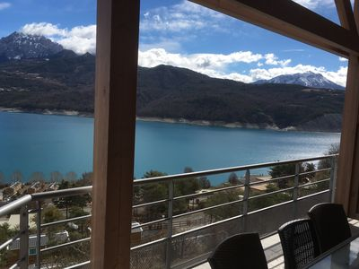Photo for Superb 4 bedroom apartment in Chorges on the lake of serre-ponçon