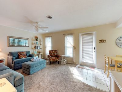 Photo for Comfortable condo near the beach w/ patio, grill and shared heated pool