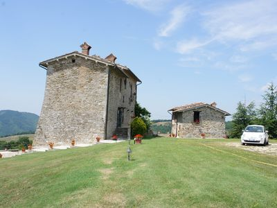 Photo for Private Castle & Holiday Villa in Gubbio Umbria, Sleeps 8+, Jacuzzi & Gardens
