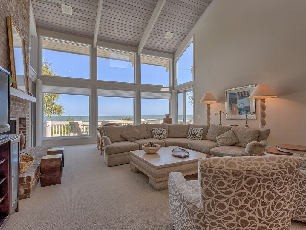 Oceanfront 5 Bedroom Beach Home With Large Pool Spa Palmetto Dunes Hilton Head South Carolina