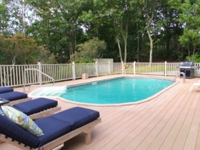 Photo for Sag Harbor Home close to Village, Heated Pool, Sun-filled Decks, 4 Beds/4Baths