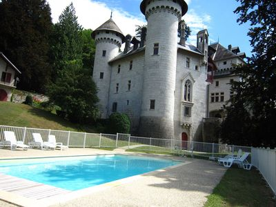 Photo for Charming castle apartment with swimming pool and breathtaking view