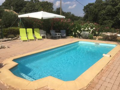 Photo for Furnished independent quiet 62m2 in Lorgues + pool between sea and lake, animals yes