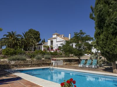 Photo for Large Spanish Cortijo in Andalucia with private pool, paddle lit