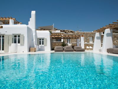 Photo for Luxury spacious Villa with Pool and magnificent view overlooking Aegean Sea