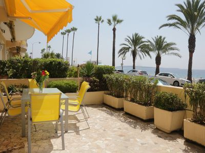Photo for Sea view, Beach-Front Cannes Apart, Central,  2 Bed/2 Bath,A/C,Parking, Wifi