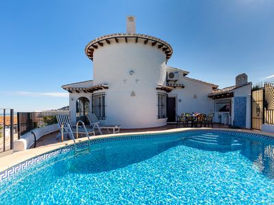 Photo for This 2-bedroom villa for up to 4 guests is located in Pego and has a private swimming pool, air-cond