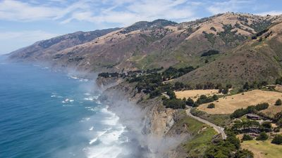 The Big Sur Coast at Ragged Point.  Marinus is seen in the lower right corner.