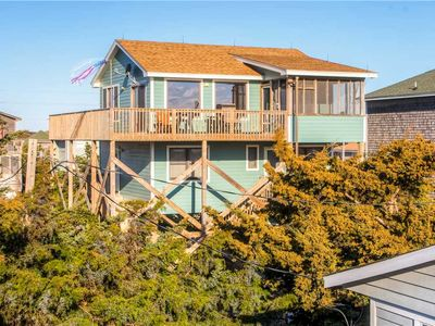 Photo for Welcoming Oceanview Home, Avon -3 Lots from Beach, Easy Beach Access, Cargo Lift