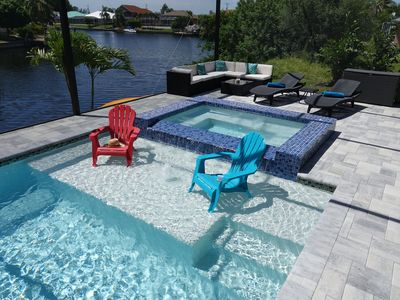 Photo for New Construction Villa in 2017, modern furnished, huge pool&spa, Gulfaccess