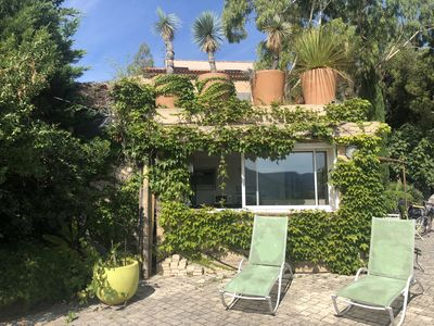 Photo for Studio ground floor, large terrace and views of the vineyards and hills