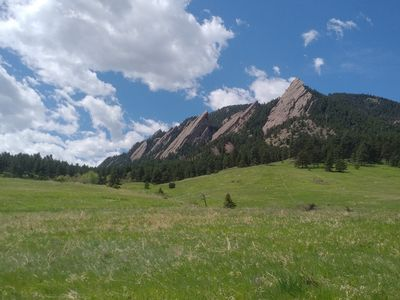 Chautauqua Park and miles of hiking trails are just a short stroll away