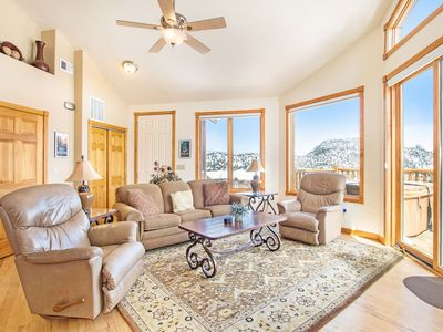 Photo for Thatchtop Mountain 19A - 2 Br condo with private hot tub, Marys Lake and mountain views!