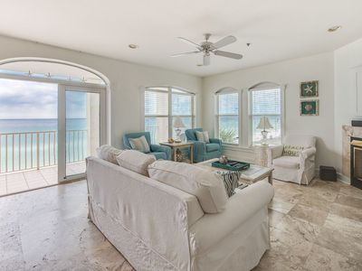Photo for Unobstructed Gulf views, listen to the waves from your private balcony!
