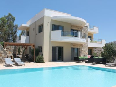Photo for Luxury Villa, Private Heated Pool, Sea & Mountain Views, in an Acre Of Garden