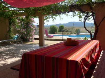 Photo for NEW: Very nice country house, large pool, ponies, near city.
