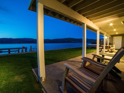 Photo for Gorgeous home w/ 92ft of private waterfront, swim deck, valuted ceilings & more!