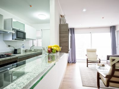 Photo for Luxury 2bdrm in Miraflores - UP2, A/C, Sound-proof windows, Pool, BBQ