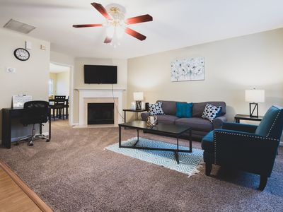 Photo for Roomy Townhome Minutes from Downtown & Six Flags⭐️Walkable⭐️Fast WiFi