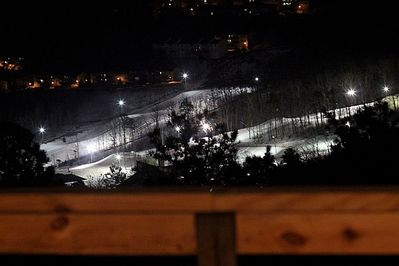 Nighttime up-close view of the slopes!