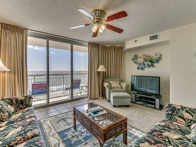 Photo for Crescent Shores 1004, 2 Bedroom Beachfront Condo, Hot Tub and Free Wi-Fi!
