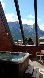 Photo for Mountain Luxury in a Penthouse Condo with Private Rooftop Hot Tub