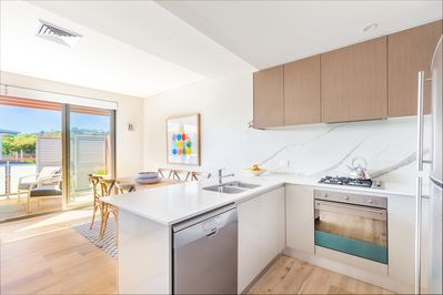 Kitchen in open plan living space
