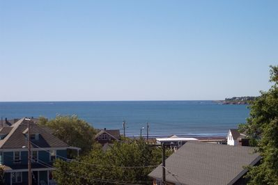 Amazing ocean view from roof deck and master bedroom.  Easy walk to this beach.
