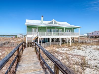 Photo for Beach & Gulf front home w/private boardwalk to the beach & expansive deck!