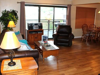 Photo for Great Family Holiday Getaway! Comfy Condo- SDC 1 mile! Beautiful Lake View! Xlarge deck!