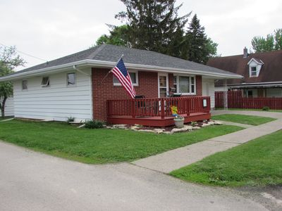 Front of the house, May 2015. Front deck.