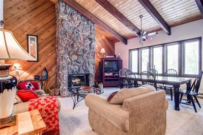 Beautiful large home, with that ski lodge/cabin cozy feel.