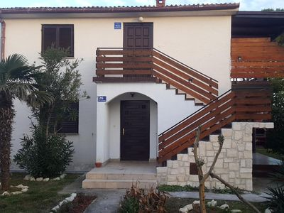 Photo for Two bedroom apartment with terrace and sea view Privlaka, Zadar (A-14833-a)