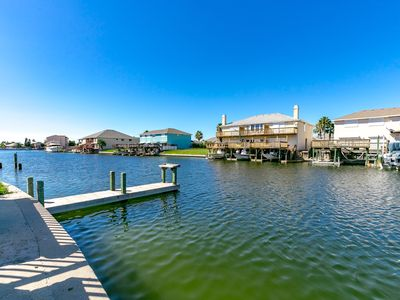 Waterfront property with pool and multiple boat slips available!