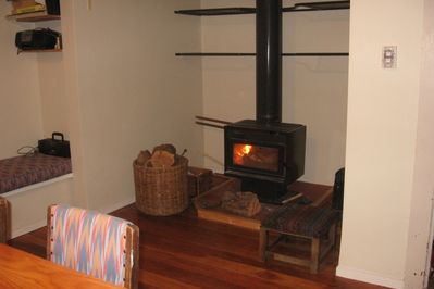Wood Burner in Kitchen/Dining Room