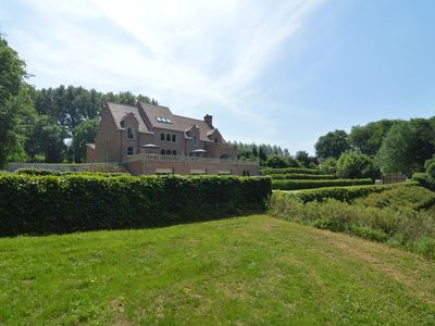 Photo for Magnificent, luxury mansion with park garden, families only