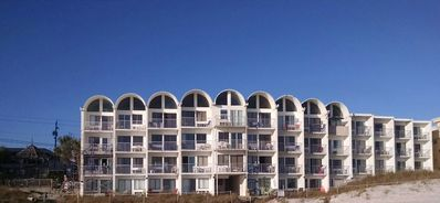 beach view of condos. mine is top floor the 3rd from left