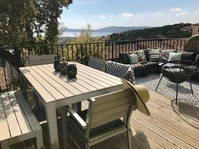 Photo for charming apartment, exceptional sea view, Residence 4 * Pierre et Vacances.