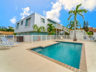 Photo for Newly Renovated Getaway 2BR w/ Pool - Walk to Gated Beach