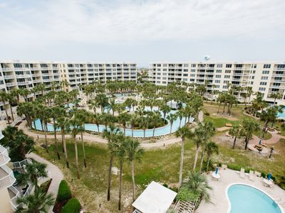 Photo for AWESOME PENTHOUSE OVERLOOKING LAZY RIVER & BAY-PVT HOT TUB-NEW UPGRADES-360 VIEW