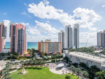 Photo for Fully renovated condo w/ ocean views. WiFi, parking, tennis, park and more!