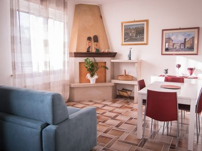 Photo for Il Pigno - large apartment with garden, a few km from Lake Garda