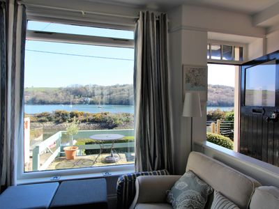 Photo for River Side Cottage with Two Terraces and Stunning Views of the Fowey River