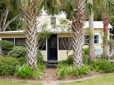 Photo for Charming designer owned cottage on Folly. 7 blocks from town. Romantic retreat.