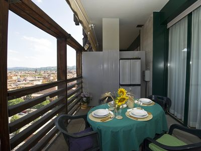 Photo for BOLOGNA SKYLINE – Central, own garage, WiFi, terrace, breathtaking view