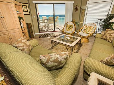 Photo for Beautiful 2 BR on the beach - Great views of the Gulf
