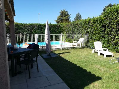 Photo for Air-conditioned house with swimming pool very close to the sea, Montpellier.