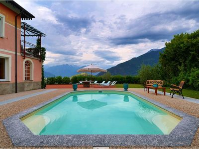 Photo for Villa Meridiana is a luxury villa in Como lake, with direct access to a beach, private pool 6 bedroo