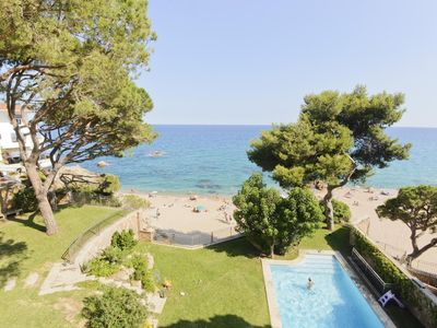 Photo for Unique Villa in front of the beach and surrounded by mediterranean trees